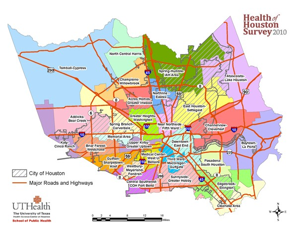 Mapping the Houston Area  Research  The University of Texas