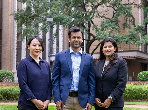 From left to right: Ryan Suk, MS; Ashish Deshmukh, PhD, MPH; and Kalyani Sonawane, PhD.