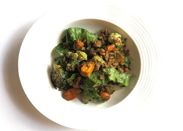 Chimichurri Roasted Veggie Salad