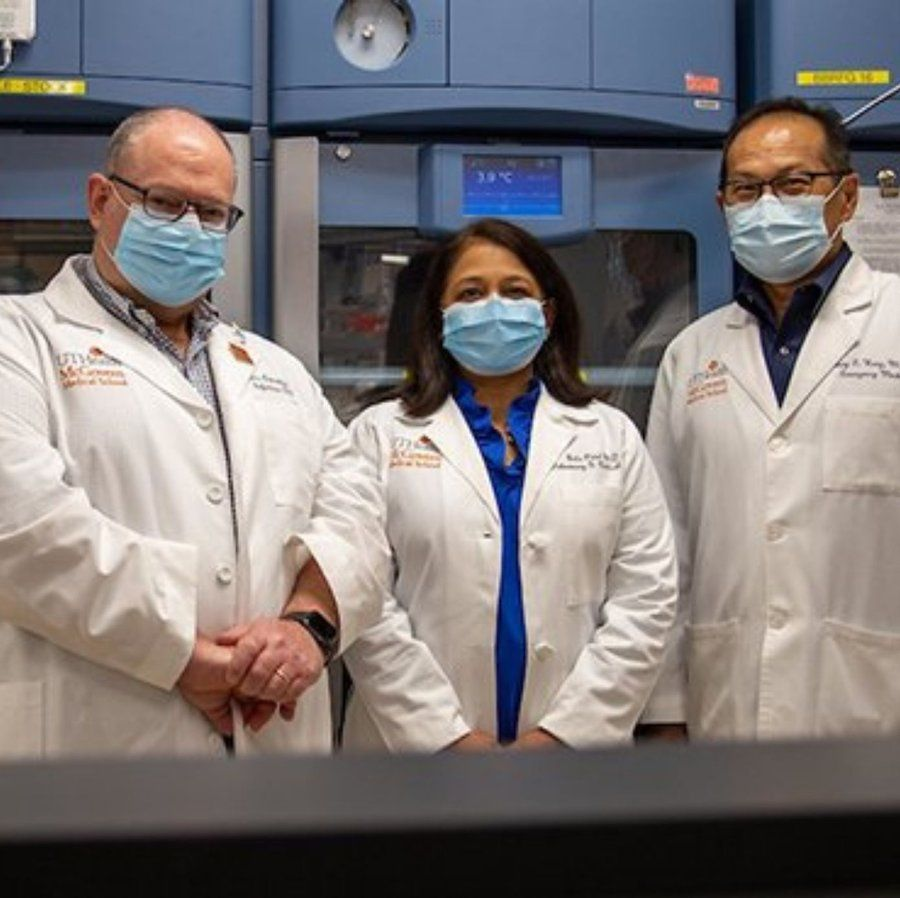 UTHealth researchers and physicians, from left, Luis Ostrosky, MD; Bela Patel, MD; and Henry Wang, MD, MPH, are leading clinical trials on COVID-19.