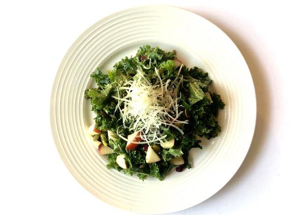 Kale Apple Salad with Lemon Tahini