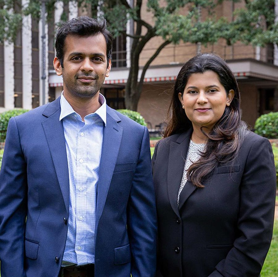 Study authors Ashish Deshmukh, PhD, MPH; and Kalyani Sonawane, PhD. Photo by Maricruz Kwon.