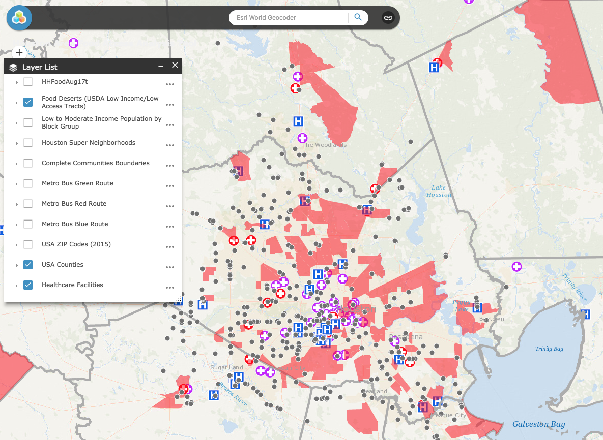Houston Area Food Access Analysis Tool Research The University