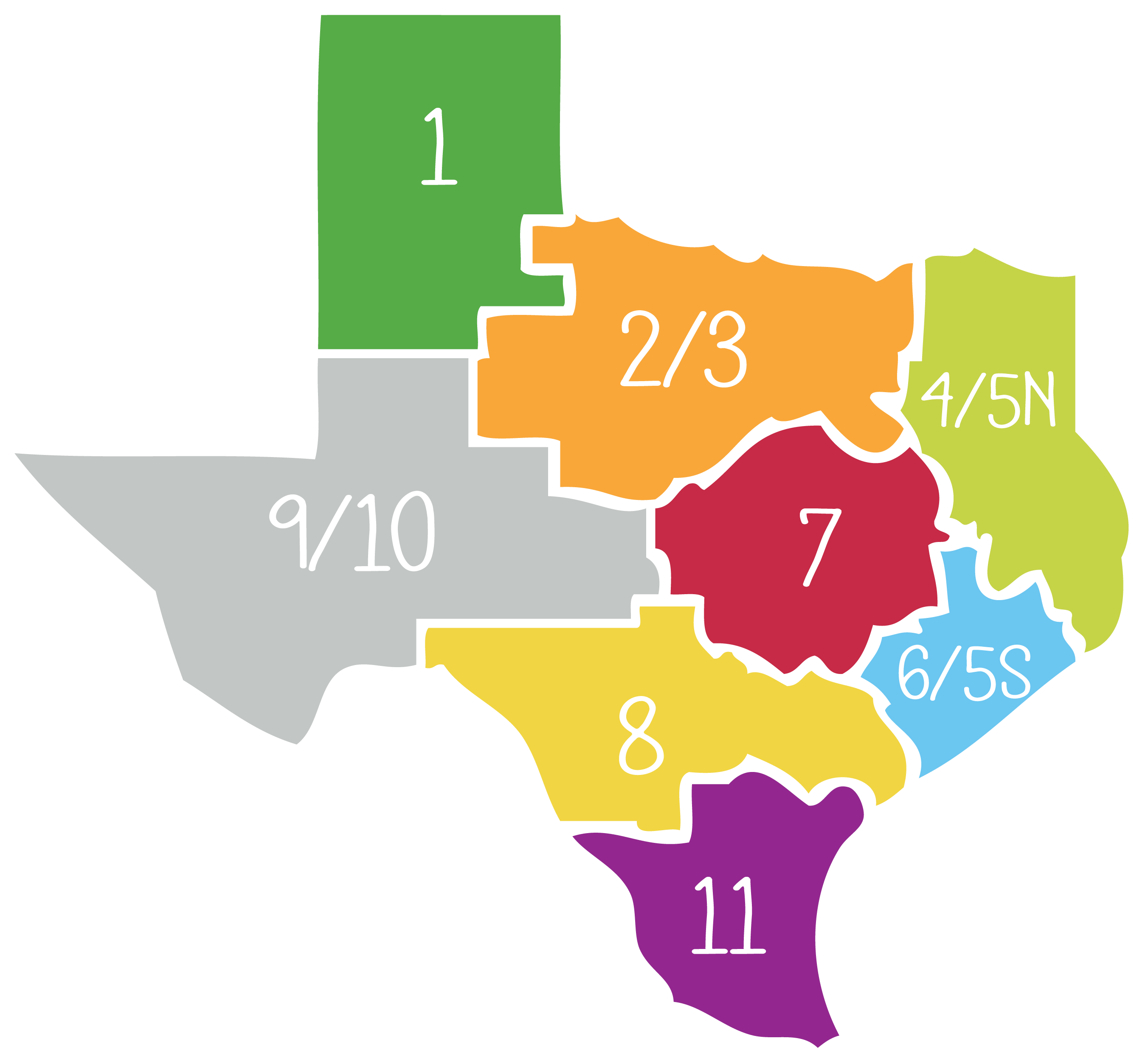 Map Of Texas District 6.Regional Representatives Live Smart Texas Michael Susan Dell